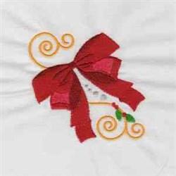 Jacobean Xmas Bow embroidery design
