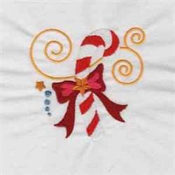 Jacobean Candycane embroidery design