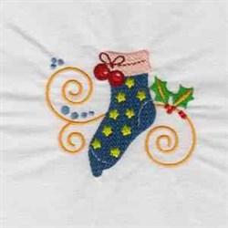Jacobean Xmas Stocking embroidery design
