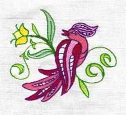 Jacobean Exotic Bird embroidery design