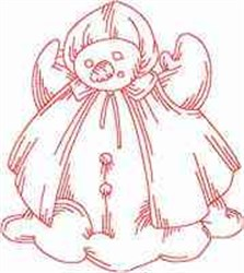 Jacobean Redwork Snowman embroidery design