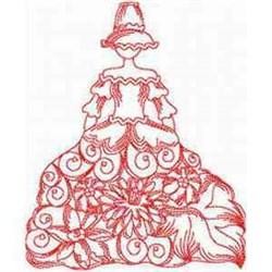 Victorian Bonnet Dress embroidery design