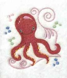 Jacobean Octopus embroidery design