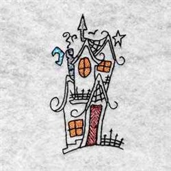 Crooked House embroidery design