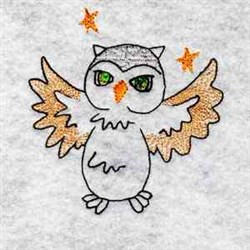Starry Owl embroidery design