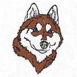 Malamute Head embroidery design