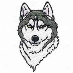 Husky Head embroidery design