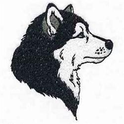 Husky Profile embroidery design