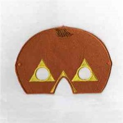 Pumpkin Mask embroidery design