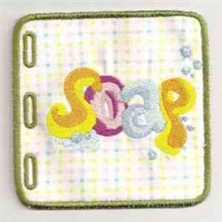 Wordbook Soap embroidery design