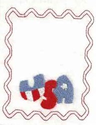 Bag Topper USA embroidery design