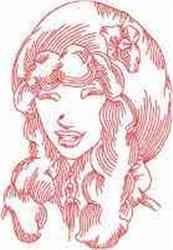 victorianladiesfaces5 embroidery design