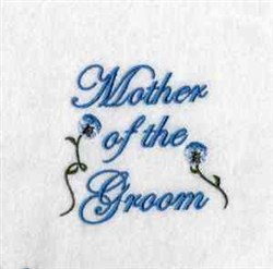 Mother of Groom embroidery design
