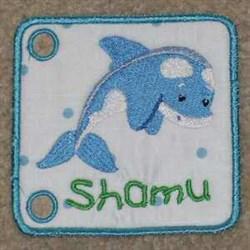 Seabook Shamu embroidery design