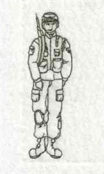 Linework Soldier embroidery design