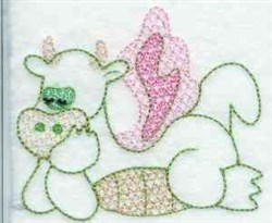 Lacey Dragon embroidery design