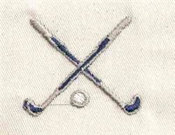 Crossed Clubs embroidery design