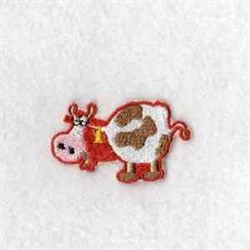 Puzzle Barn Cow embroidery design