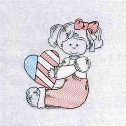 July 4 Country Girls embroidery design
