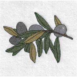 Cross Stitch Olives embroidery design
