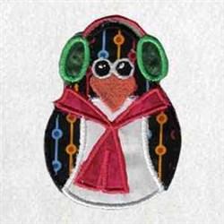Applique Winter Penguin embroidery design