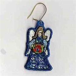 Mylar Left Angel Earring embroidery design