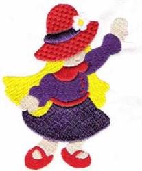 Bonnet Girl embroidery design