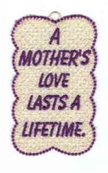 FSL Mothers Love Bookmark embroidery design