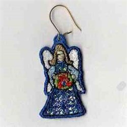 Mylar Right Angel Earring embroidery design