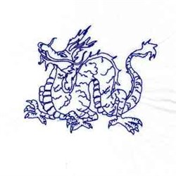 Bluework Year of the Dragon embroidery design