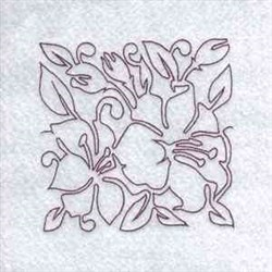 Line Art Lilies Quilting embroidery design