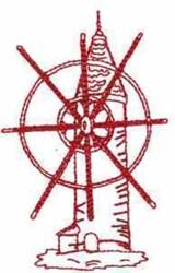 Redwork Windmill embroidery design