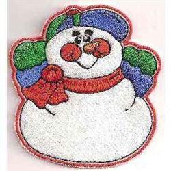 Xmas Snowman Holder embroidery design