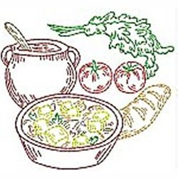 Linework Kitchen Items embroidery design