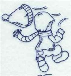 Winter Bonnet Boy embroidery design