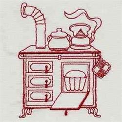 Vintage Kitchen Stove embroidery design