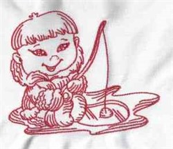 Ice Fishing Eskimo embroidery design