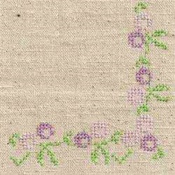 Cross Stitch Floral Corner embroidery design