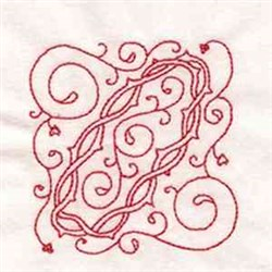 Redwork Easter Block embroidery design