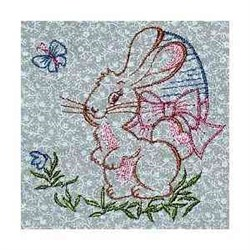 Vintage Easter Bunny embroidery design