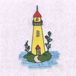 Lighthouse Island embroidery design
