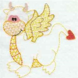 Lacy Love Dragon embroidery design