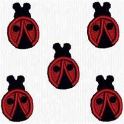 Ladybug Motifs embroidery design
