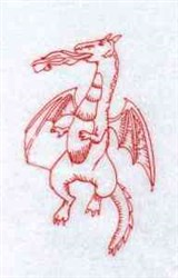 Fire Breathing Dragon embroidery design