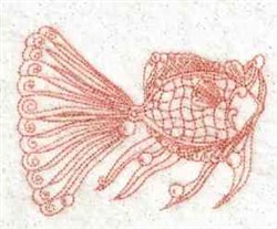 Redwork Fancy Fish embroidery design