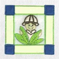 Zoo Block Boy embroidery design