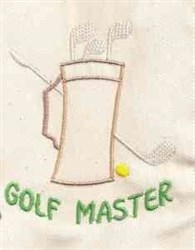 Golf Master embroidery design