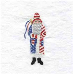 July Father Christmas embroidery design