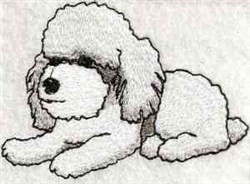 Cute Poodle Pup embroidery design