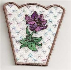 Lily Bowl Side embroidery design